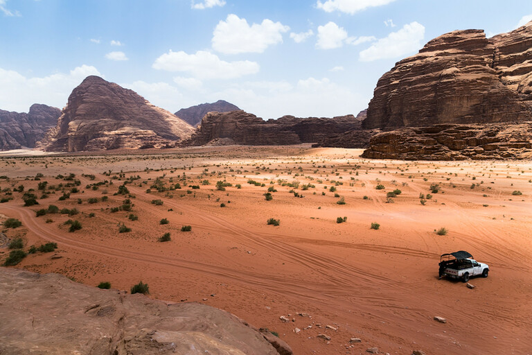 Around the desert