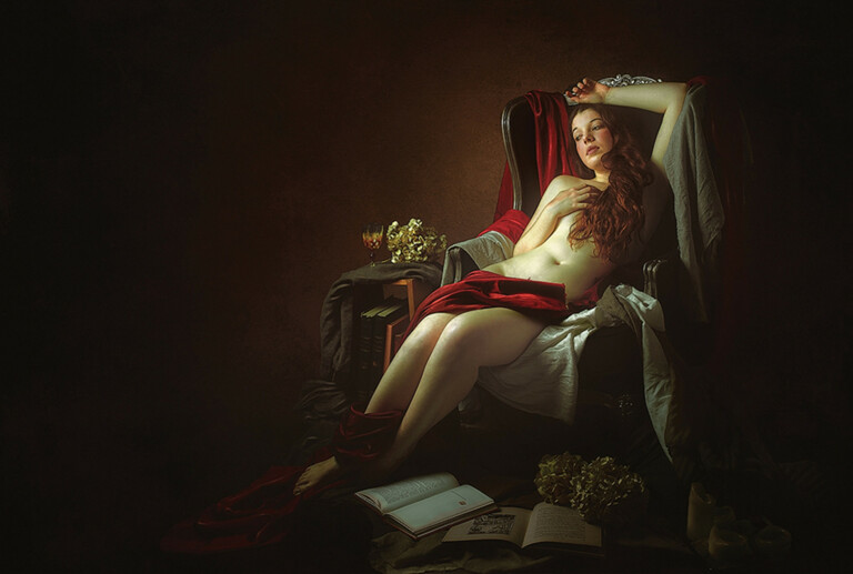 Thierry Bansront's Neoclassical Nudes