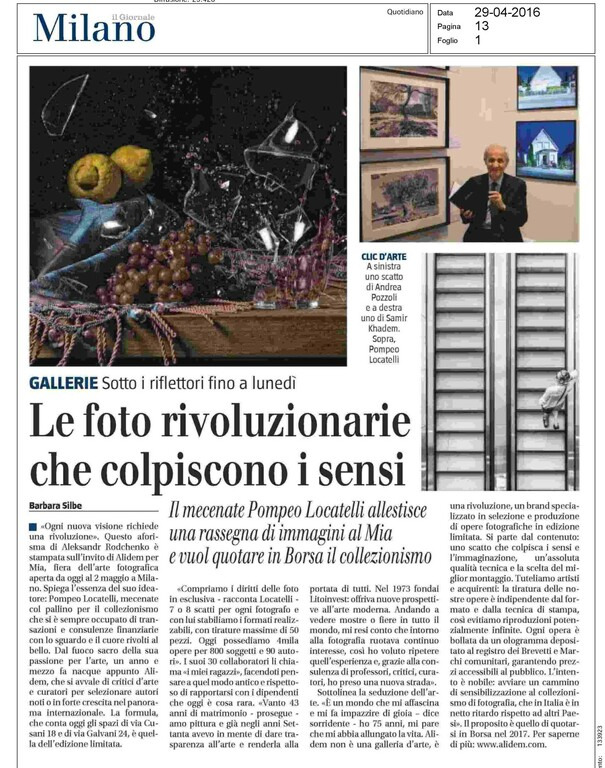 Il Giornale - 29th of April 2016