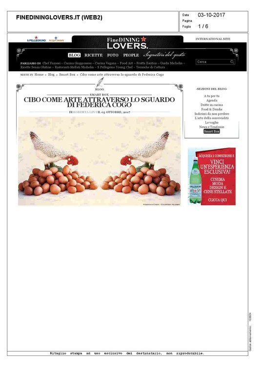 FEDERICA COGO IN FINE DINING LOVERS